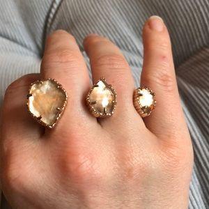 Kendra Scott multi finger ring, Rose Gold